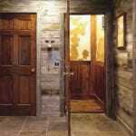 Custom car with reclaimed wood for home elevator