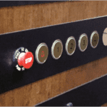 Home Elevator Horizontal Car Operating Panel Vintage Bronze Finish Brass Buttons