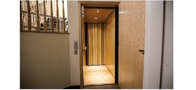 Residential Elevator for Home Use Straight Through Configuration