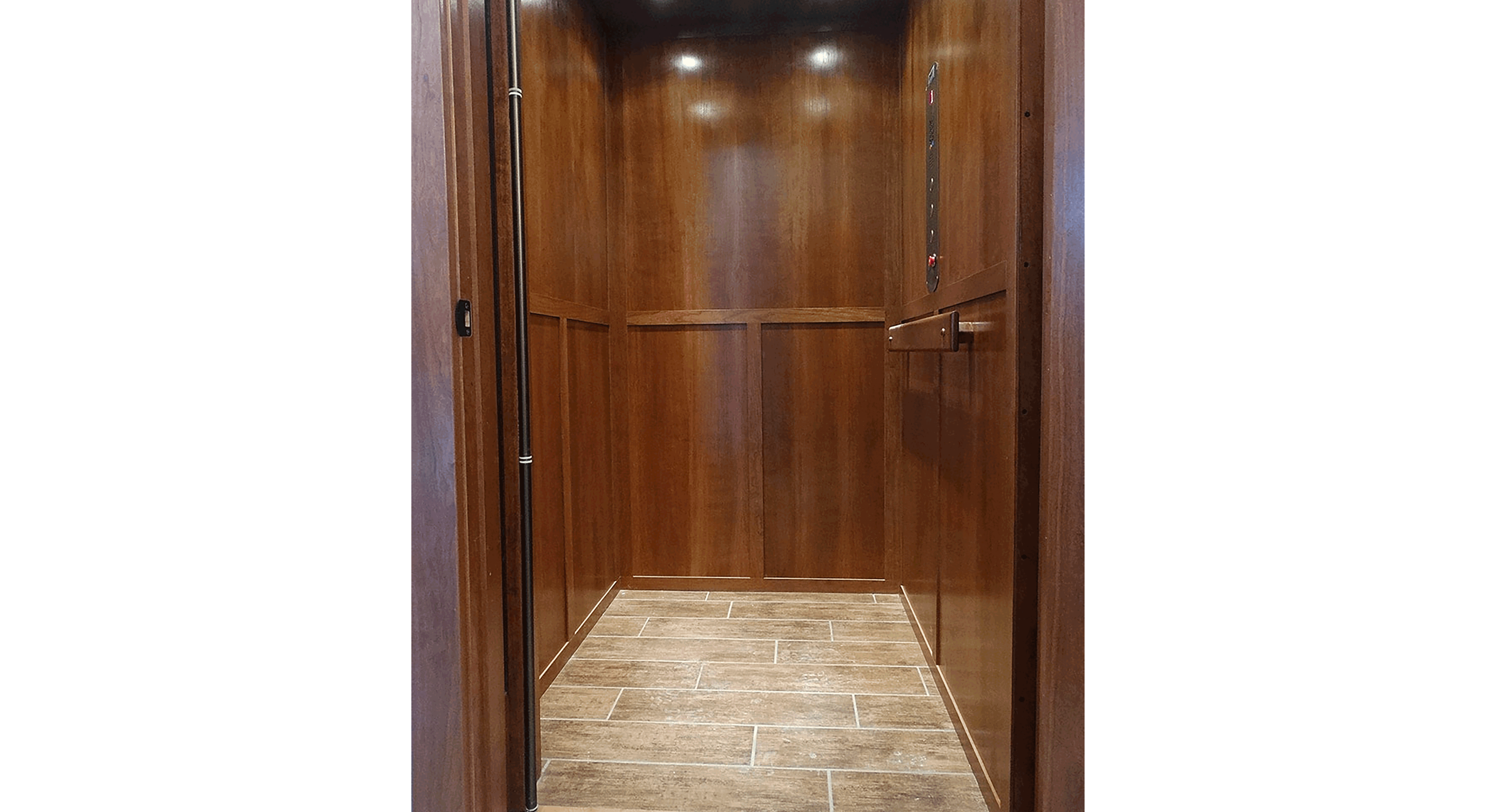 Residential Elevator with Shaker Panels