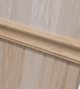 Symmetry Home Elevator Customization Wainscot and Chair Rail