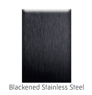 Home Elevator Interior Metal Finishes - Blackened Stainless Steel