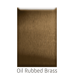 Home Elevator Interior Metal Finishes - Oil-Rubbed Brass