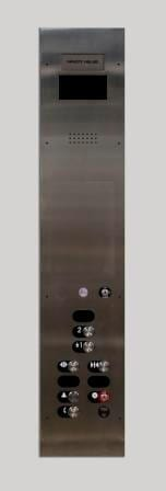 Symmetry LULA Elevator Standard Control Operating Panel in Brushed Stainless Steel