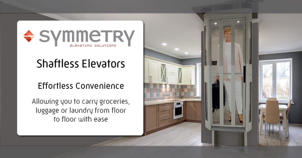 Symmetry Shaftless Home Elevator Convenience