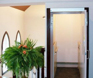 Symmetry Wheelchair lift VPL-SL installed in church by Country Home Elevator